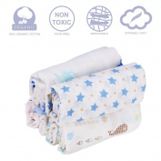 GHB Swaddle Blankets Baby Receiving Blankets 4-Pack 100% Cotton