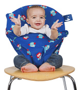 Totseat Portable Chair Harness, Night Owls - Blue