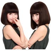 S-noilite® Fashion Women Lady Short Straight BOB Full Head Wigs Cosplay Daily Fancy Dress Hair Wig Dark Brown