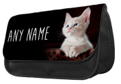 Personalised Cute Kitten Pencil Case / Make up bag 186