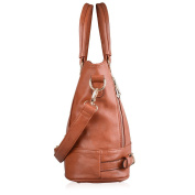 VANCOO Lady and Women's Vintage Style Soft PU Leather Tote Bag Large Shoulder Handbags