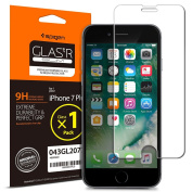 iPhone 7 Plus Screen Protector, Spigen® [Easy-Instal Wings] Tempered Glass, Anti-Scratch Ultra Clear Most Durable iPhone 7 Plus Glass Screen Protector, Apple iPhone 7 Plus / 6S Plus / 6 Plus Screen Protector