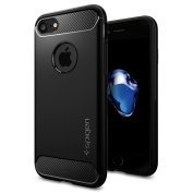 iPhone 7 Case, Spigen® [Rugged Armour] Resilient [Black] Ultimate protection from drops and impacts for iPhone 7 (2016) -