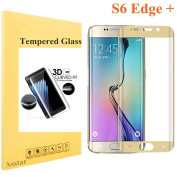Galaxy S6 Edge Plus Tempered Glass, Screen Protector Asstar [Full Coverage] 9H 0.2mm Thinest Shatterproof Fingerprint-free Bubble free Film for Samsung Galaxy S6 Edge +