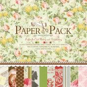 27 Sheets 30cm by 30cm Craft Paper Pad Cardstock Pad Photo Background Decorative Paper Card Floral Design PS011 ¡