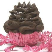 Bath Bomb Cupcake - Fizzy Lush Bath Bomb Nourish (Sea Salts), Moisturise (Sweet Almond Oils), Exfoliate (Frosting) - One Large 180ml Bomb