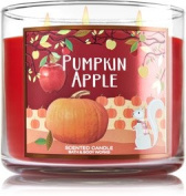 Bath and Body Works Pumpkin Apple 3 Wick Candle