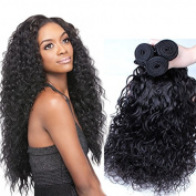 ZM Hair 7A Grade Brazilian Hair 3 Bundle Water Wave Hair Extensions Human Hair Weft