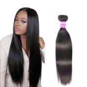 Indian Straight Hair Bundles Unprocessed Virgin Hair Extensions Real Human Hair 20cm Natural Black