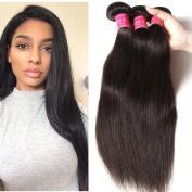 ALI JULIA Hair 3 Bundles 7A Brazilian Virgin Straight Hair Weft 100% Unprocessed Human Hair Weft Extensions Natural Colour