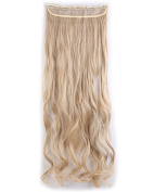 """Fashion Long Curly 3/4 Full Head One Piece 5clips Clip in Hair Extensions Cosplay Party Hairpiece( Dark Blonde Mix Bleach Blonde 29"""""""