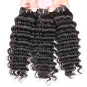 "Gluna Hair 8A Brazilian Deep Wave Virgin Hair 3pcs Brazilian Virgin Hair Deep Weave Human Hair Extensions26""28""30"""