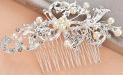 Bellady Bridal Headpiece Hair Pin Comb Wedding with Crystal Rhinestones Pearls