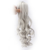 Riyang Women Cosplay Wig with High Ponytail Long Curly Synthetic Just a Claw Ponytail