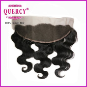 Quercy Hair Free Part Lace Frontal Closure 13x 4 With Baby Hair Body Wave Virgin Indian Human Hair Full Lace Closure Ear to Ear Natural Colour