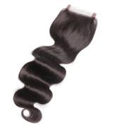 ALi Queen Hair 20cm Free Part Body Wave Lace Closure Bleached Knots Brazilian 10cm x 10cm Virgin Human Hair Accessions