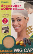 Qiftt Shea Butter & Olive Oil Treated Stocking Wig Cap #803 Natural