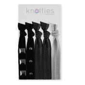 Knotties Snag Free Hair Accessories, Embellished Silver
