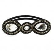 Tassel Park Ave Hair Tie, Black Silver