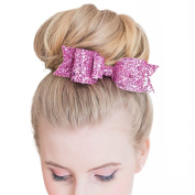 MANDI HOME 1 Pc Women and Girl Sequins Bowknot Hair Clips / Kids Bling Glitter Big Hairpin Headwear Hair Accessories-Hot Pink