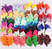 ABOEL Set of 40 Colours 7.6cm Baby Girl Headbands Grosgrain Ribbon Boutique Hair Bows Alligator Clips For Teens