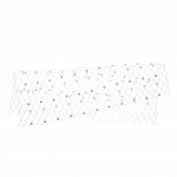 Kloud City ®Bridal White Pearl Net Face Veil Wedding Party Headwear Women's Fascinator Veil