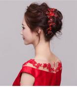 Newtripod Crystal Bridal Headpiece,Wedding Hair Accessories with Bead