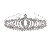 Wedding Party Rhinestones Crystal Tiara Crown Bridal Headband Hair Comb Crown