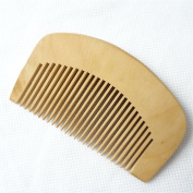 Small Hair comb- Hand Crafted Peach Wooden Beard and Moustache,Head Hair with Anti-Static,Easy Carry for Travel Tools