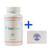 HairBurst Natural Hair Vitamins, 60 Count + Way of Life 5-day Pill Holder