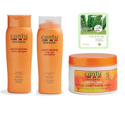 Cantu Shea Butter Shampoo Conditioner & Leave in Conditioning Cream set w/ Aloe Mask