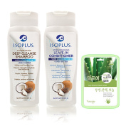Isoplus Deep Cleans Shampoo & Strengthening Leave In Conditioner Set w/ Aloe Mask