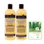 Renpure Originals Almond Milk Hydrating Shampoo & Conditioner Set w/ Aloe Mask