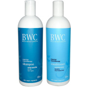 Beauty Without Cruelty Moisture Plus Premium Aromatherapy Shampoo and Conditioner Bundle For Dry or Treated Hair, With Aloe Vera, Ylang Ylang, Rosemary, Chamomile, Sage and Horsetail, 470ml each