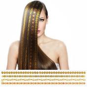 HJLWST 1Pcs Top Fashion New Arrival Golden Bronzing Hair Sticker