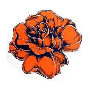 HJLWST 1PC Yimei Tattoo Stickers Waterproof Flower Series Women/Girl/Men/Adult/Boy/Teen Orange Flower Design 16.8cm14.3cm