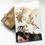 HJLWST Wedding Paper Women Gold for Hair Tattoo Stickers