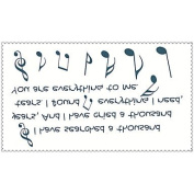 HJLWST Fashion Temporary Tattoos Poetry Sexy Body Art Waterproof Tattoo Stickers 5PCS (Size