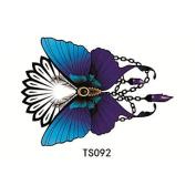 HJLWST 1pcs 3D Purple Butterfly Waterproof Tattoo
