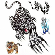 HJLWST 1PC Large Big Temporary Tattoos Tiger Dragon Pattern Wedding Party Tattoos Fake Tattoos for Body Art