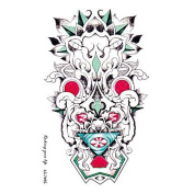 HJLWST Individuality Waterproof Temporary Tattoos 3D Totem Design Large Arm Tattoo Sticker