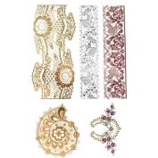 HJLWST 1Pcs Metal Rose Gold And Silver Series Snail Pattern Tattoo Sticker
