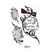 HJLWST 1pcs Temporary Tattoo Sticker English Alphabet