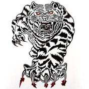 HJLWST 1PC Large Big Temporary Tattoos Bloody Tiger Pattern Wedding Party Tattoos Fake Tattoos for Body Art