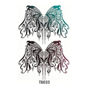 HJLWST 1pcs Temporary Tattoo Sticker Wing