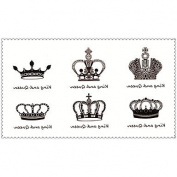 HJLWST Fashion Temporary Tattoos King and Queen Sexy Body Art Waterproof Tattoo Stickers 5PCS (Size