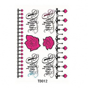 HJLWST 1pcs Temporary Tattoo Sticker Flower Butterfly
