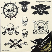 HJLWST 1pc Halloween Tattoo Paste Colour Tattoo Stickers A Larger Version Waterproof