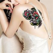 HJLWST 1Pcs Tide Waterproof Lotus Flower Odonate Temporary Tattoo Temporary Body Art Tattoo Sticker