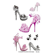 HJLWST RC2244 Waterproof Temporary Tattoo Sticker Colourful High-heeled Shoe Design Tattoo Sticker